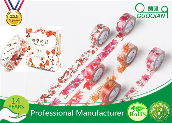 China Dekoratives klebriges Washi selbsthaftendes Kreppband DIY für DIY-Handwerk Scrapbooking fournisseur